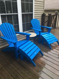 South Beach Adirondack by POLYWOOD® Adirondack Chairs, Outdoor Chairs, Outdoor Decor, Homemade Bleach, Vintage Outdoor Furniture, Fire Pit Table, South Beach, Blue, Home Decor