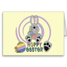 Easter bunny t shirts and gifts cards easter giftshousehold hoppy easter t shirts and gifts card negle Images