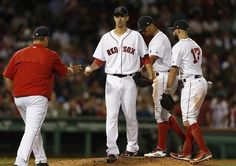Rick Porcello's night ended in the sixth inning, after he gave up a two-run homer that staked Toronto to a 7-2 lead.