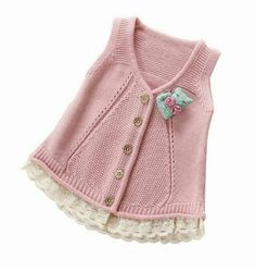 2017 Spring Fall Little Girls Cotton Vest Woollen Sweater Cardigan Baby Infant Sleeveless Knitwear Children Knitted Sweater Knitting Blogs, Knitting For Kids, Baby Knitting Patterns, Baby Patterns, Baby Cardigan, Sweater Cardigan, Crochet Baby, Knit Crochet, Cheap Cardigans