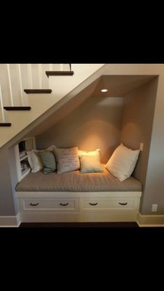 Nice 50+ Under Stairs Decor Ideas https://decoratio.co/2017/04/50-stairs-decor-ideas/ There are lots of methods to create under stair storage space. I really like the manner that this under stair storage space stipulates a desk area for those kids.