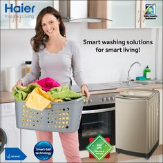It cleans your clothes, while it cleans itself. Smart-ball #technology ensures optimal performance and hygiene! Avail our exciting offers and get attractive EMI options and lifetime warranty! TnC apply. Offer valid only in Delhi/NCR. Visit your nearest Haier showroom to avail this offer. #HaierIndia #WashingMachine #Technology #Appliances #InspiredLiving
