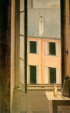 Window, Cour de Rohan (1951) by Balthus (mythology of blue)