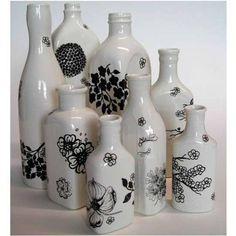 Como hacer floreros con botellas