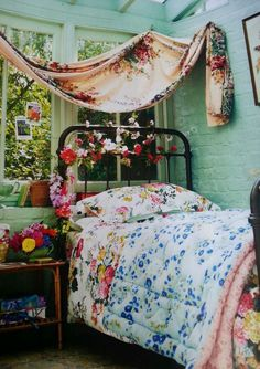NEW JOULES RUBY DOUBLE DUVET COVER FLORAL VINTAGE STYLE 100% COTTON FABRIC AS FEATURED ON BBC HOMES ANTIQUES MAGAZINE JULY 2014