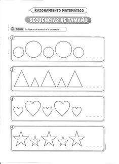 Secuencia de tamaño: Razonamiento matemático 5 años - Material de Aprendizaje