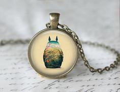 My Neighbor Totoro Inspired Necklace, Totoro Pendant, Anime Jewelry