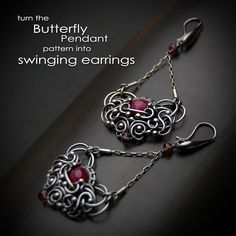 Learn how to create this swirly design with easy to follow step-by-step tutorial. https://www.etsy.com/listing/100228056/the-butterfly-pendant-step-by-step-wire