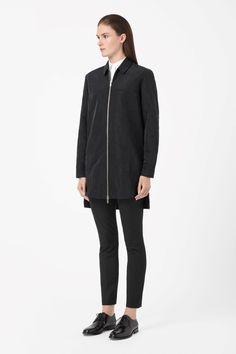 COS | Long zip-up shirt
