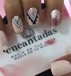 Fancy Nails, Love Nails, Pink Nails, How To Do Nails, Pretty Nails, My Nails, Black Nails, Magic Nails, Bride Nails