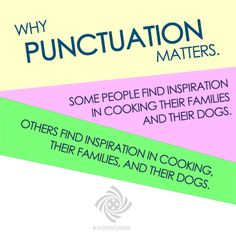 Why punctuation matters.