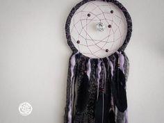 Large Dream Catcher  Dark Purple Dreams  With Round by bohonest #dream #catcher #black #home #decor #purple #decor