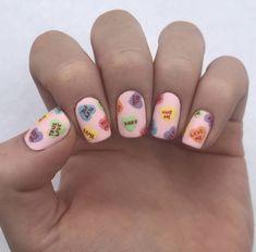 Valentine's Day Heart Nail Art Designs & Ideas 2019 Great Nails, Cool Nail Art, Love Nails, Fun Nails, Heart Nail Art, Coffin Nails Long, Valentines Day Hearts, Small Heart, Nail Manicure