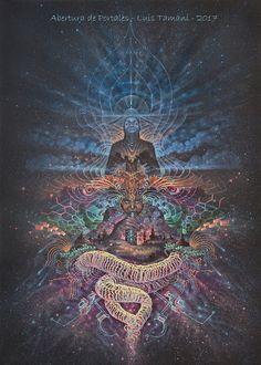 Visionary artwork of Luis Tamani Virtual Gallery Originals paintings Prints Visionary artwork of Luis Tamani Virtual Gallery Originals paintings Prints Organic Paper Psychadelic Art, Cosmic Art, Psy Art, Spirited Art, Mystique, Visionary Art, Sacred Geometry, Trippy, Oeuvre D'art
