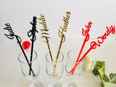 Cocktail bar accessories Personalized name drink stirrers | Etsy