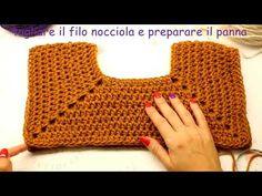 """🎥TUTORIAL: Maglione """"Funny"""" top down/sweater crochet**lafatatuttofare**-. Diy Crafts Crochet, Cute Crochet, Easy Crochet, Crochet Lace, Crochet Projects, Gilet Crochet, Crochet Collar, Crochet Cardigan, Popular Crochet"""
