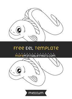 Free Eel Template - Medium