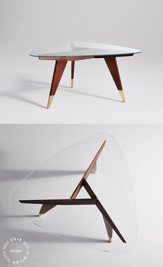 TheD.552.2small table byGio Ponti, in wood with a glass top, designed for the American company M. Singer&Sons in the '50s has been reissued byMolteni&Cin partnership withGio Ponti's heirs.