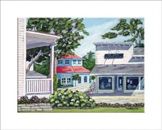 """Main Street"" reproduction print of an acrylic painting by Barb Timmerman."