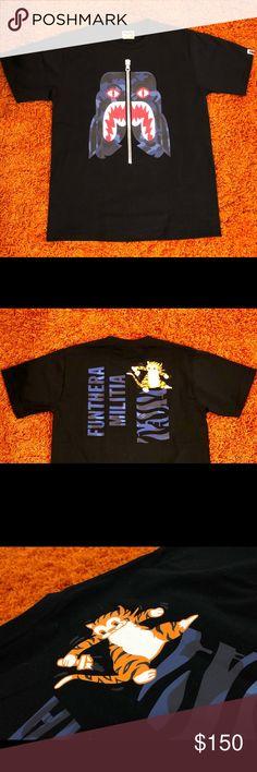 c46a6e4d BAPE Tiger Shark Funthera Militia Tee Black BAPE Tiger Shark Funthera  Militia Tee Black Dimension: