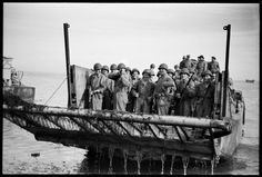 Rangers on landing craft near Licata, Sicily, 1943.