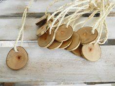 Natural wood tags - Christmas Ornaments - Etsy