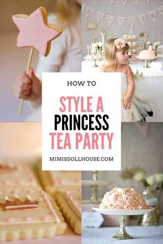 Princess themed Tea Party Ideas for Little Girls! Celebrate your little one's birthday with a fancy princess tea party that will be the talk of the town. Princess Tea Party, Princess Theme, Baby Shower Princess, Princess Birthday, Birthday Party Treats, 1st Birthday Party For Girls, 1st Birthday Party Decorations, Fancy Desserts, Pink Parties