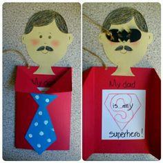 Father's day craft#γιορτη του πατερα Art Activities For Kids, My Dad, Fathers Day, Preschool, Superhero, Preschools, Father's Day, Kid Garden, Senior Year