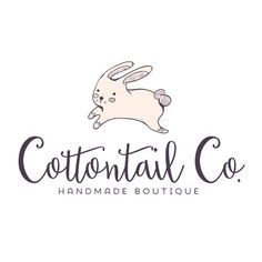 Premade Logo - Hopping Bunny Rabbit Premade Logo Design - Customized with Your Business Name!