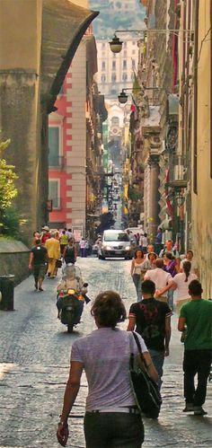 Vista di Spaccanapoli, Napoli
