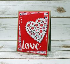 Button Heart Card by - Cards and Paper Crafts at Splitcoaststampers My Funny Valentine, Valentines, Valentine Cards, Ink Stamps, Heart Cards, Love Cards, My Stamp, Card Stock, Paper Crafts