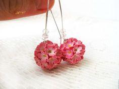 Нежные цветочные серьги-шары - Ярмарка Мастеров - ручная работа, handmade