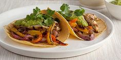 Tacos, enchiladas, burritos and other Mexican favorites can all be part of a healthy diet. Get the recipes from Food Network. Healthy Mexican Recipes, Healthy Menu, Healthy Chicken Recipes, Healthy Eating, Healthy Grilling, Dinner Healthy, Healthy Dishes, Tasty Dishes, Healthy Tips