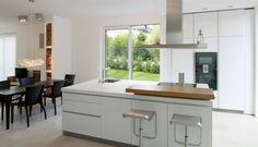 Modern, white Kitchen Interior Design Boards, Best Interior Design, Modern Interior, Modern Family, Home And Family, Küchen Design, House Goals, My Dream Home, Kitchen Interior