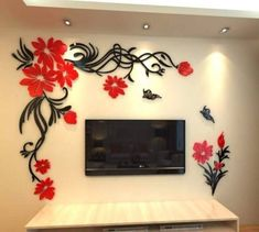 2016 Big Size Wall Sticker Flowers Acrylic Sofa Home Wall Decals Sticker DIY Removable Wall stickers For Living Rooms Decor. new brand wall stickers. Material : Acrylic Wall Sticker with Gum. Removable Wall Stickers, Mirror Wall Stickers, Wall Stickers Home Decor, Wall Decal Sticker, Wall Art Decor, Wall Decor Pictures, Decorating With Pictures, 3d Home, Crystal Wall