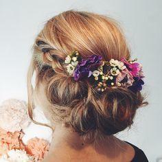 #Peinados para esta #primavera #Hairstyle #Spring #Flowers