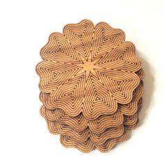 Design-1 Wood coaster, wooden coaster, wood coaster set, wood coasters, housewarming gift, wedding favor, drink coaster, tableware, wood art