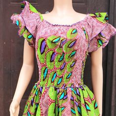 Ankara Bubble Dress African print Print Dress by AfrowearHouse