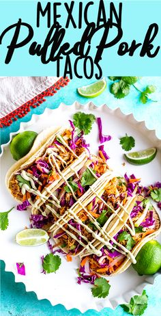 Slow Cooker Mexican Pulled Pork Tacos - Fox and Briar
