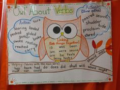 """""""Owl"""" About Verbs Anchor Chart"""