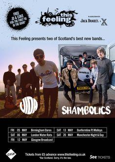 #shambolicsmusic #wearevida #This_Feeling tour #Birmingham #London #Glasgow #Dunfermline #Manchester