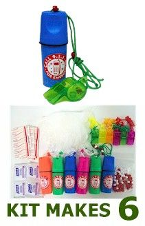 Economical Beach Safe First Aid Kit for your troop to make. From MakingFriends.com