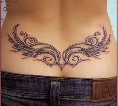 tribal back tattoos for woman - Google Search