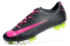 Not a fan of black cleats but the pink and green make these ones look awesome Girls Soccer Cleats, Nike Soccer Shoes, Soccer Goalie, Nike Cleats, Soccer Outfits, Soccer Boots, Lacrosse, Cool Football Boots, Football Shoes