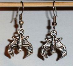 Ohrringe Fledermaus Edelstahl Ohrhänger Tibetan Silber Modeschmuck Damen Neuware