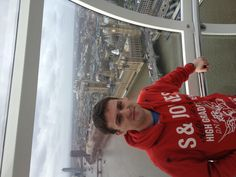 Me after the visa appointment on the London eye!