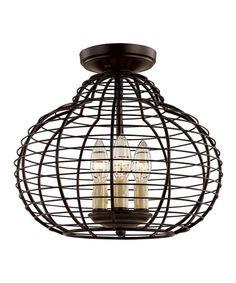 Look at this #zulilyfind! Black Antique Pendant Flush Mount Light #zulilyfinds