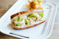 southern-style shrimp roll