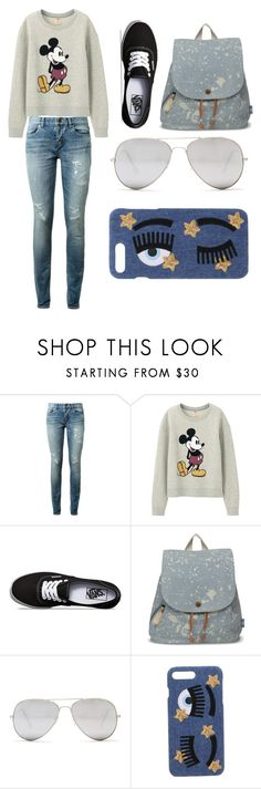 """#2"" by stowies74 on Polyvore featuring Yves Saint Laurent, Uniqlo, Vans, TOMS, Sunny Rebel and Chiara Ferragni"