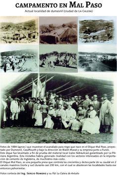 1884 - Construcción del dique Malp aso